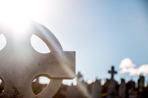 cross in graveyard small