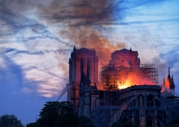 fire at Notre-Dame de Paris, Paris, France